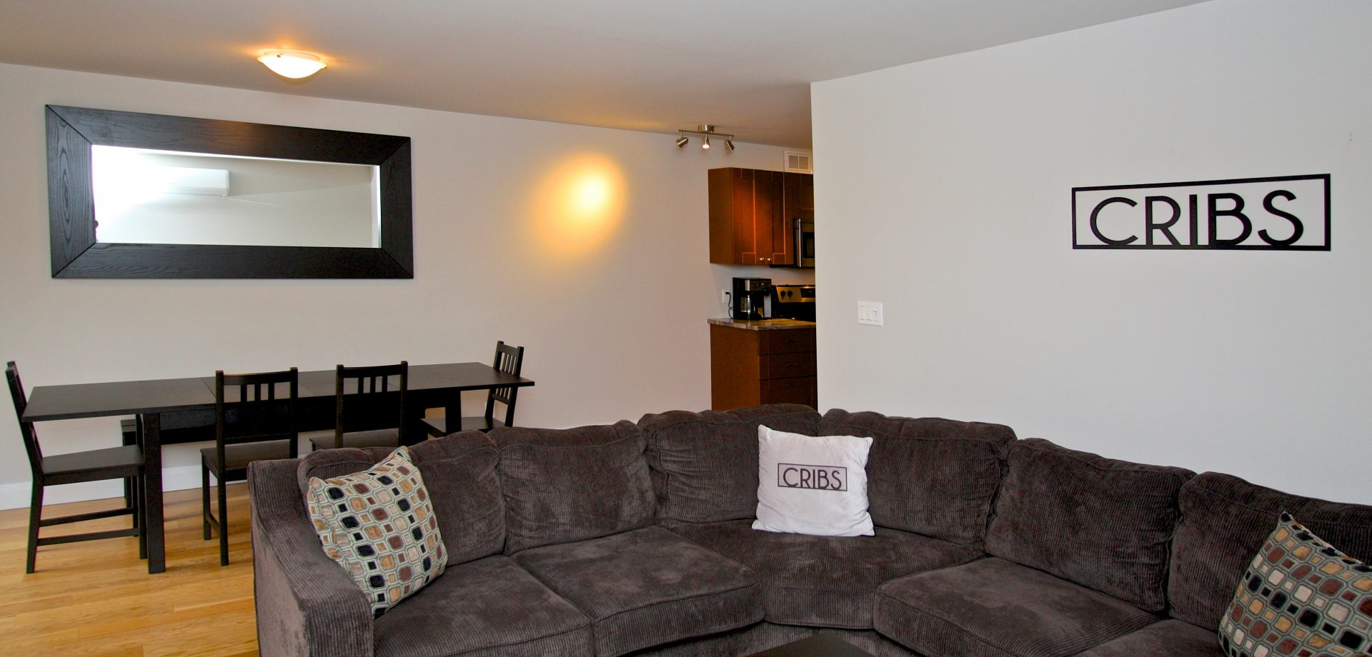 Living area with comfy sectional